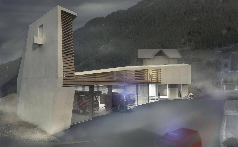 Blaulichtzentrum Ischgl aussen 2