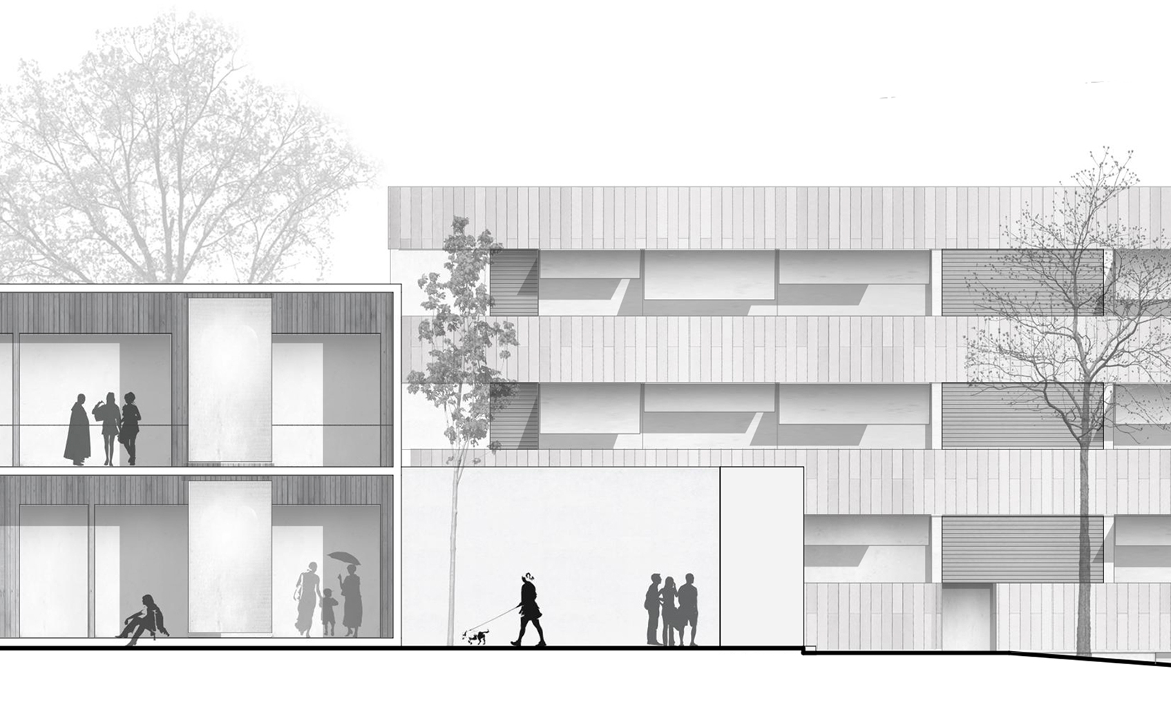 Ansicht Architektur ansicht ausschnitt parc architekten